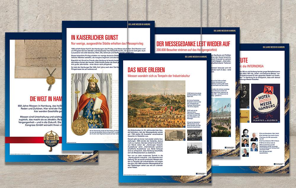 Arbeitsprobe Drucksachen Ausstellungstafeln Messe- und Congress