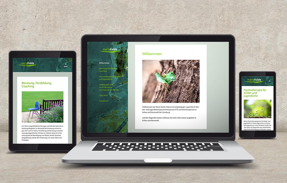 Websitegestaltung und Umsetzung fuer Maria Kalde