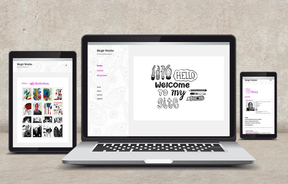 Websitegestaltung und Umsetzung fuer Birgit Weyhe
